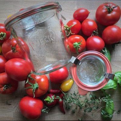 Zavařování rajčat – Rajčata zavařená ve vlastní šťávě