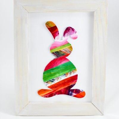 Velikonoční zajíček: pestrobarevný obrázek