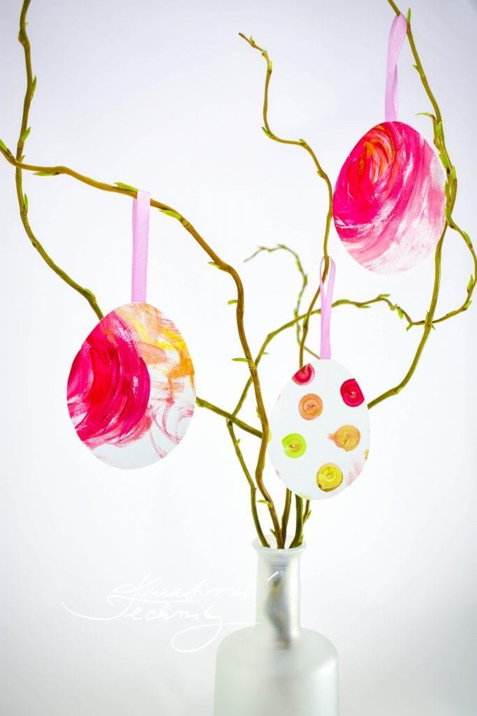 Velikonoční vajíčka z papíru, Výroba dekorace. Velikonoční tvoření s dětmi. Dekorace z větví. Tvoření velikonoční dekorace. Velikonoční dekorace z papíru. Pdf šablona..