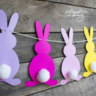 Easter paper garland: decoration tutorial