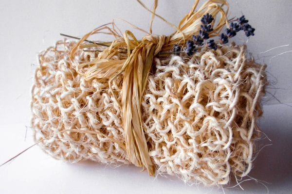 Knitting pattern: knitted back scrubber