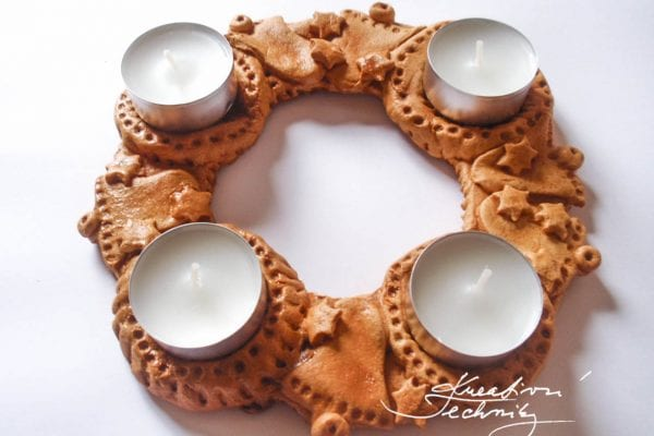 Salt dough Advent Wreath