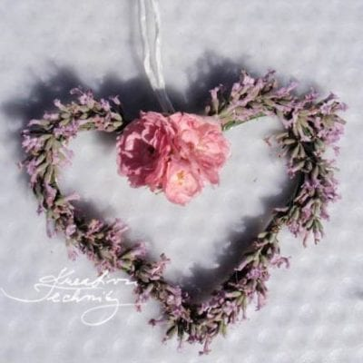 DIY Lavender Decor: Pink Heart