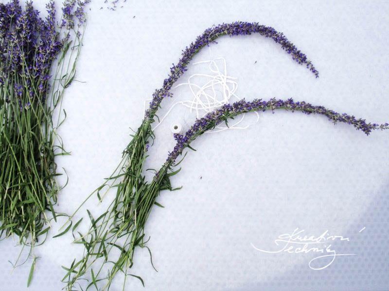 How to make lavender decoration? Lavender crafts. Making of lavender decoration.