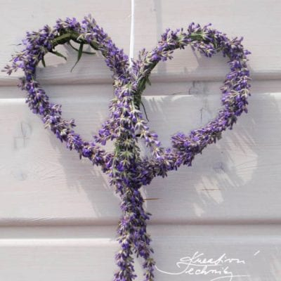 Lavender decoration: how to make lavender heart?