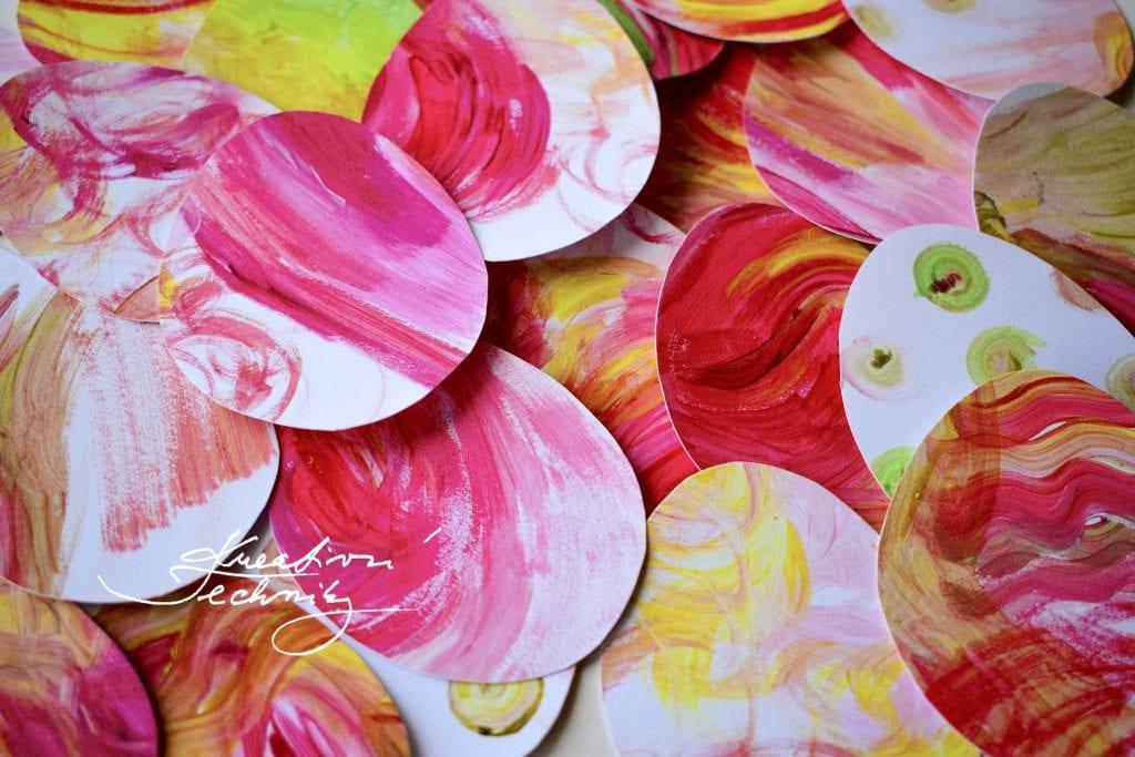 Velikonoční vajíčka z papíru, Velikonoční výzdoba. Výroba dekorace. Velikonoční tvoření s dětmi. Dekorace z větví. Tvoření velikonoční dekorace. Velikonoční dekorace z papíru. Pdf šablona..