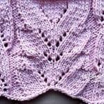 Vzory pro ruční pletení - Ažurový vzor