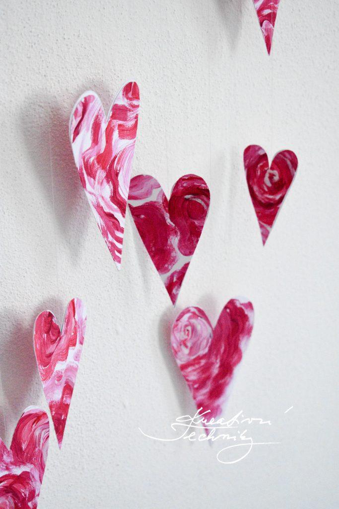 Dekorace na Valentýna. Výzdoba na Valentýn. Valentýnské tvoření. Svatý Valentýn. Diy. Srdce.