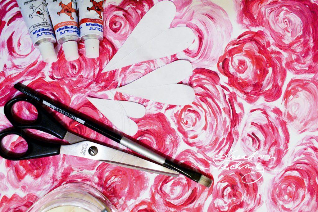 Dekorace na Valentýna: Valentýnské tvoření. Svatý Valentýn. Diy, výroba vlastní originální dekorace.