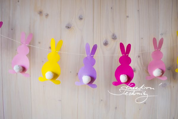 Easter garland: decoration tutorial