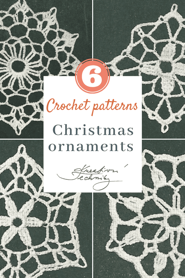 Do you want to have beautiful crochet Christmas snowflake ornaments? Here are free Christmas crochet patterns you can use as inspiration. Crochet Christmas ornaments are original decoration for your Christmas tree. Christmas crochet patterns free inspiration for your DIY Christmas projects. │crochet patterns│crochet patterns free│christmas ornaments diy│snowflake decorations│christmas snowflake│star decorations diy│christmas star ornaments│ #crochet #christmas #DIY #decorations