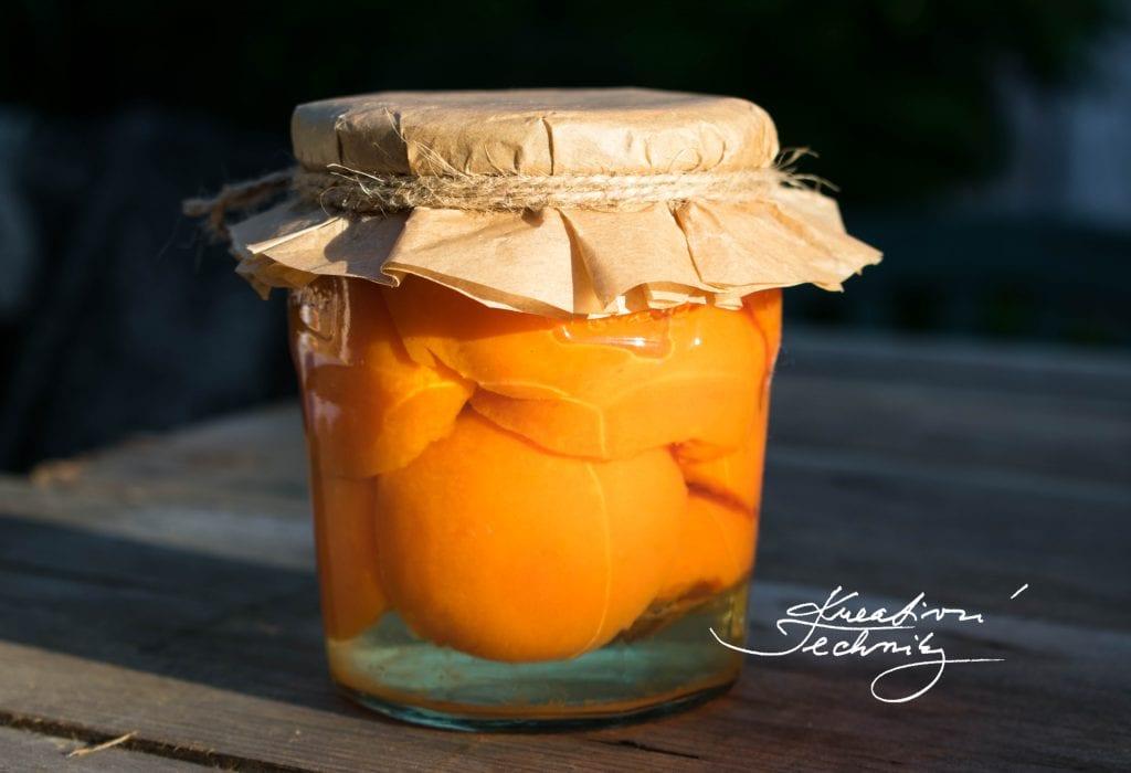 meruňkový kompot recept, Zavařování meruněk recept