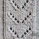Vzory na ruční pletení - ažurový vzor