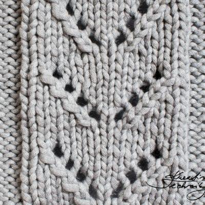 Vzory na pletení č. 3: ažurový vzor do V