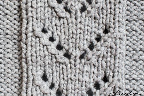 Vzory na ruční pletení – Ažurový vzor do V