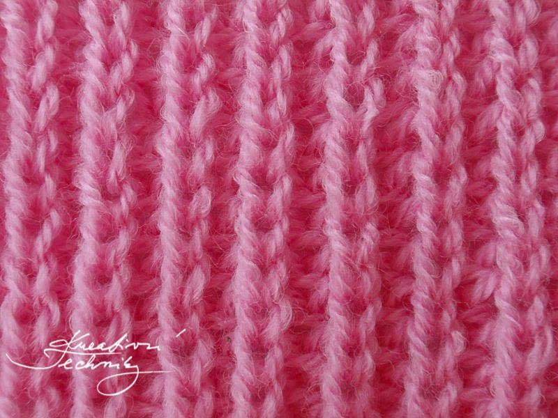 Návody na pletení - Chytový polopatent