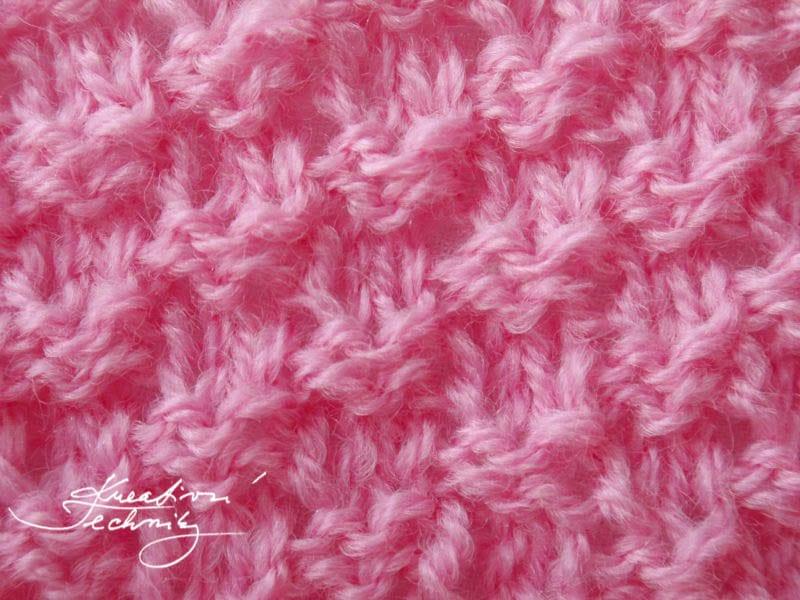 vzory na pletení - Dvojitý rýžový vzor. Vzory na ruční pletení zdarma
