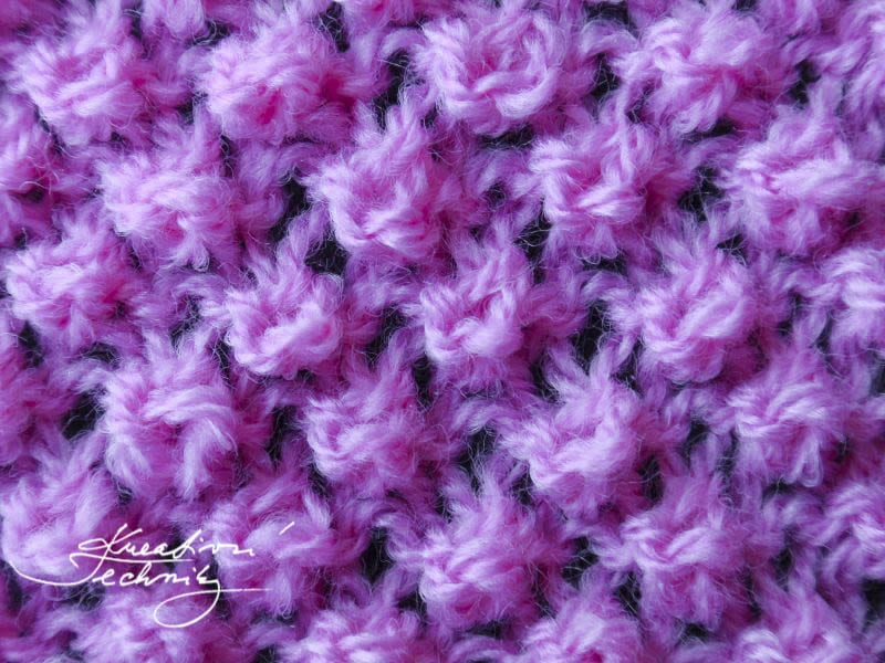 Vzory na ruční pletení - pavoučkový vzor