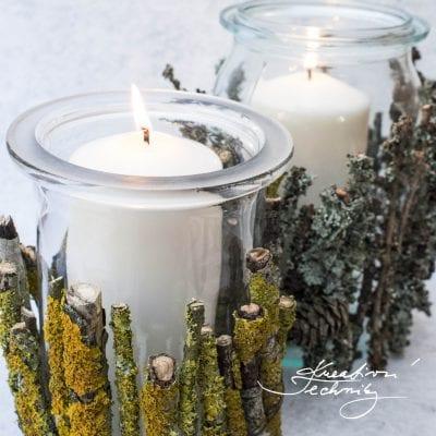 Výroba svícnů ze sklenic