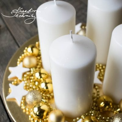 Golden Advent Wreath