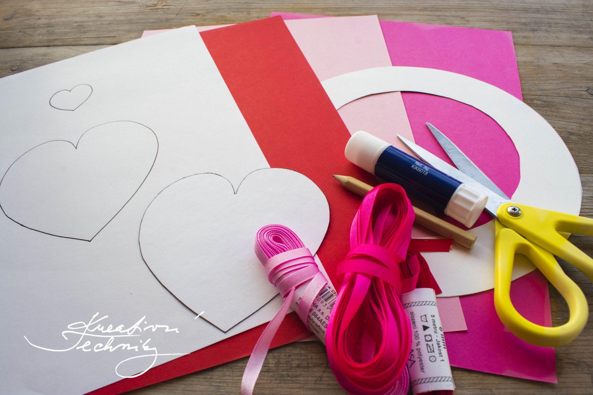 Valentýnské tvoření, valentýnská dekorace, DIY návody a nápady, Valentýn, svatý Valentýn