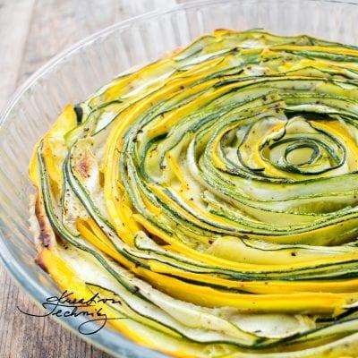 Cuketa: recept na slaný koláč