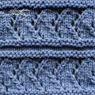 Vzory na pletení č. 5: ažurový vzor v pruzích