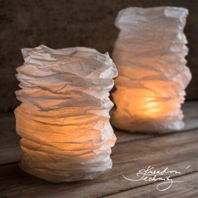 Dekorace do bytu: papírové lampy