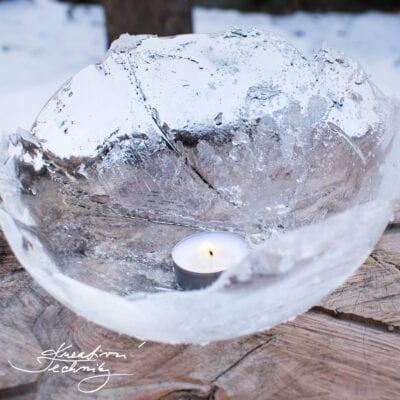Zimní dekorace: ledové lampy