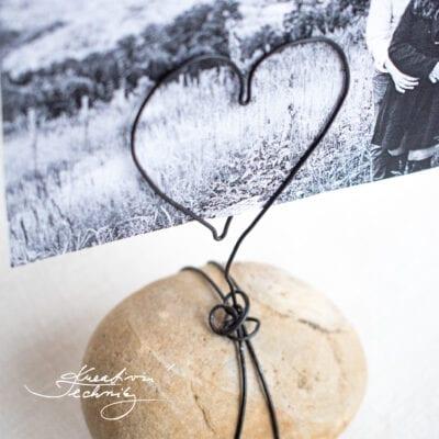DIY dárek: stojánek na fotku