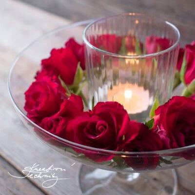Romantický svícen na Valentýn