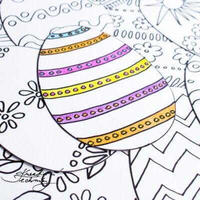 Omalovánky k vytisknutí: velikonoční přáníčko