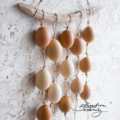 Závěsná velikonoční dekorace: DIY