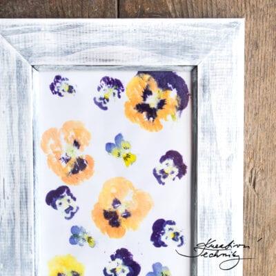Dekorativní obrázek s maceškami: DIY návod