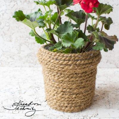 Jak si vyrobit stylový obal na květináč: DIY návod