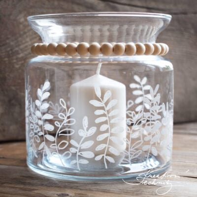 Skleněný svícen: DIY dekorace