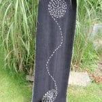 Vyšívání: dámská zimní šála s originální výšivkou