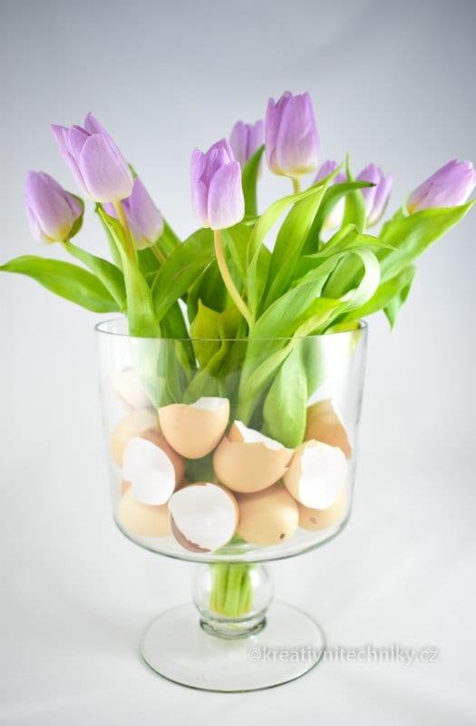 Velikonoční dekorace na stůl, Velikonoční dekorace, Výroba dekorace, Velikonoční nápady, inspirace, Jarní dekorace, Jarní dekorace DIY, Jarní dekorace do bytu, dekorace do skleněné vázy, dekorace do vázy, výroba jarní dekorace tvoření