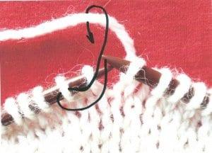 Upleteme nejprve druhé oko hladce, necháme je na levé jehlici, upleteme první oko hladce a až potom uvolníme obě oka z levé jehlice., vzory na ruční pletení,vzory na pletení, pletené vzory, vzory na pletení zdarma, vzory pro ruční pletení, ruční práce, návod, popis, postup